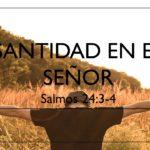 Santidad en el señor
